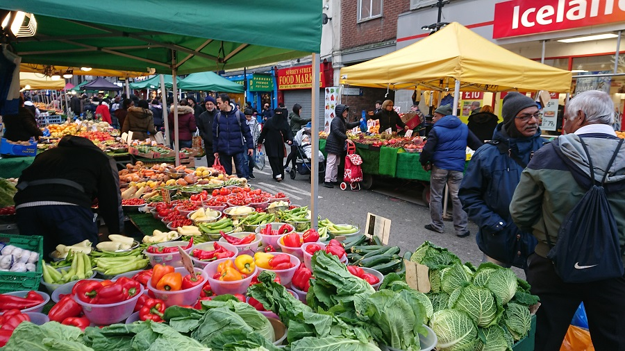 Fresh fruit and vegetables - Street market Croydon